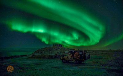 Northern lights over Lofoten